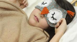 Как сделать маску для сна