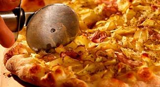 Пицца с картофелем и луком-пореем по-французски