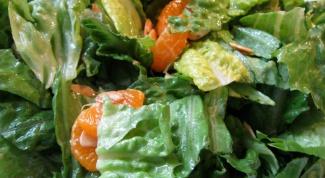 Салат из пекинской капусты и мандарином