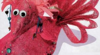 Как сделать райскую птицу из сизаля
