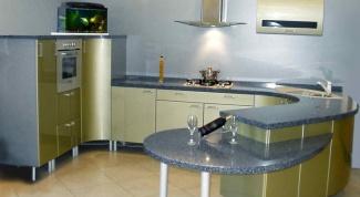 Овальная кухня