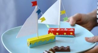 Как сделать кораблик из шоколада