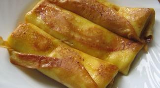 Блинчики с сыром и беконом
