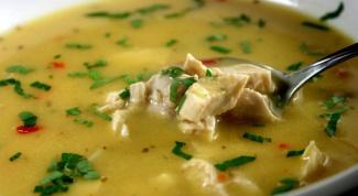 Как приготовить куриный суп с сыром