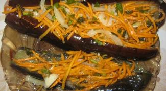 Квашеные баклажаны, фаршированные капустой