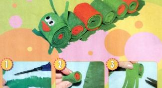 Как сшить гусеницу из фетра