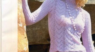 Как связать красивый ажурный свитер спицами