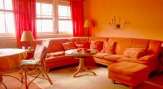 Интерьер в оранжевом цвете