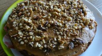 Как приготовить торт с финиками и орехами
