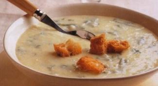 Картофельный суп-пюре с рукколой