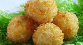 Картофельные шарики с тмином