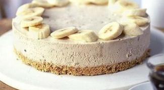 Бананово-творожный чизкейк