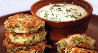 Как приготовить картофельные оладьи с ветчиной
