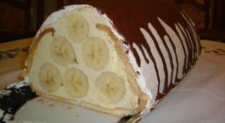 """Банановый торт из печенья """"Пирамидка"""""""