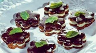 Мятное печенье с шоколадом