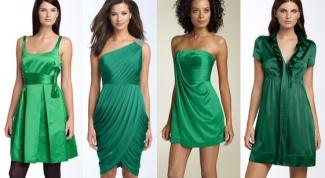 Зеленое платье: как носить и кому подойдет