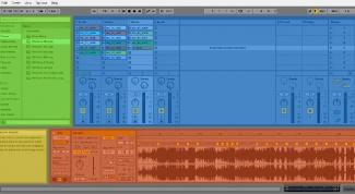 Главный экран Ableton Live 9