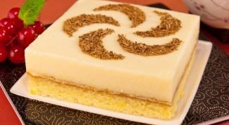 Бисквитное пирожное с апельсиновым суфле