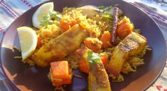 Рис с рыбой по-сербски