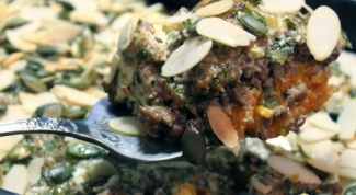 Иорданская запеканка из тыквы с фаршем в тахинно-йогуртовом соусе