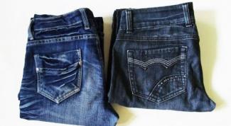 Как убрать заломы на джинсах