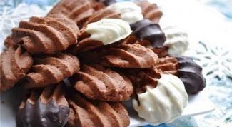 Шоколадное печенье «кошачьи лапки»