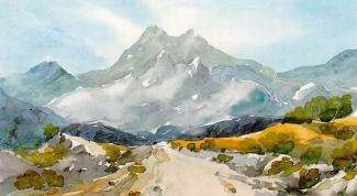 Как нарисовать горы поэтапно карандашом