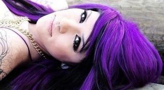 Как получить фиолетовые волосы