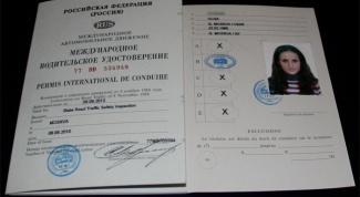 Как выглядят международные водительские права