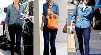 Как носить джинсовую рубашку с джинсами, брюками и шортами