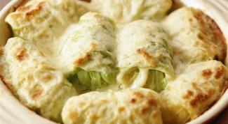 Голубцы с картофелем и сыром