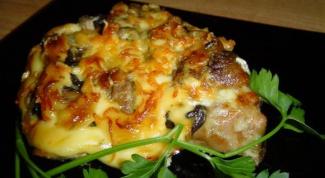 Как приготовить куриное филе с грибами в духовке