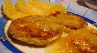 Сырники с апельсиновым сиропом