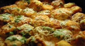 Вкусные куриные шарики в сливочном соусе