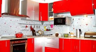 Как использовать красный цвет при оформлении кухни