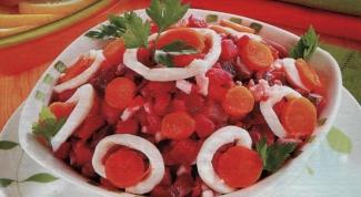Винегрет с кальмарами: необычный вариант традиционного блюда