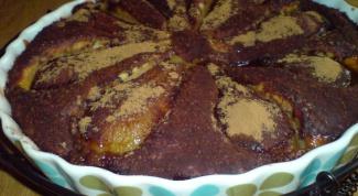 Пирог с медово-карамельными грушами
