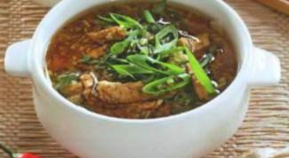 Азиатский суп на курином бульоне