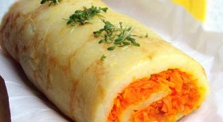Как приготовить картофельный рулет с морковью