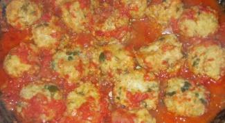 Рыбные тефтели в томате