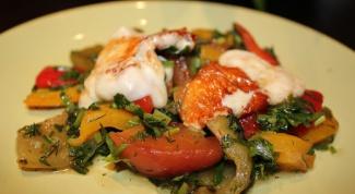 Салат из перцев и персиков