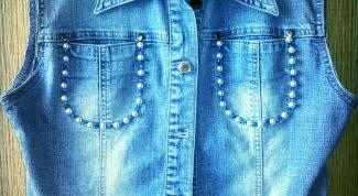 Как декорировать джинсовую жилетку