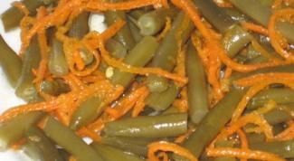 Салат из спаржевой фасоли и корейской моркови