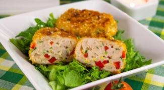 Куриные котлеты с сыром и болгарским перцем