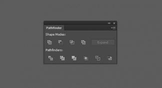 Панель Pathfinder в Adobe illustrator
