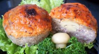 """Мясные """"маффины"""" с грибами"""