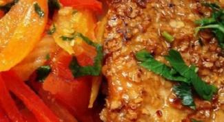 Стейк из индейки с овощным гарниром