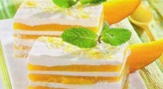 Творожно-манговое парфе