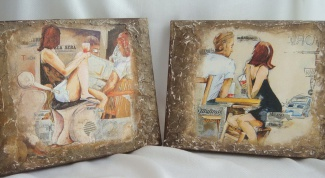 How to make decoupage on canvas