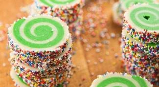 """Как приготовить печенье """"Цветные спиральки"""""""